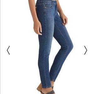 White House Black Market Skimmer Blue Jeans 2